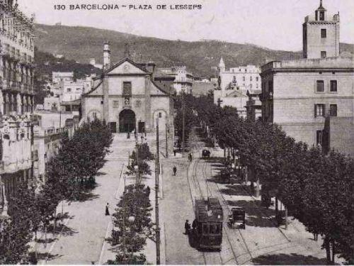 placa-lesseps-barcelona-1915-19252